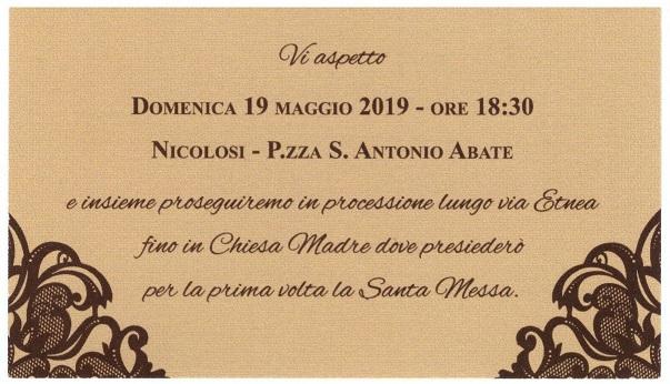 Don Gabriele Serafica: prima messa a Nicolosi - Avvocato Basilio Antoci a Nicolosi